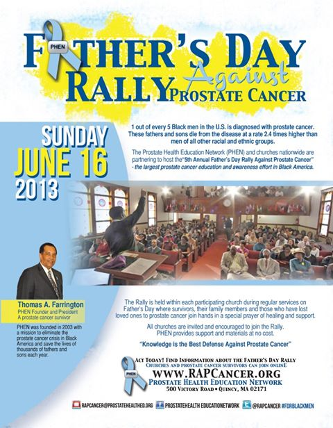 Prostate Cancer Rally to Reach One Million Persons on Father's Day