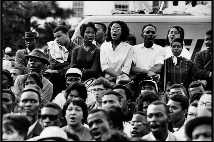 ... Participants in the Selma march are seen in Selma, Ala., 1965.